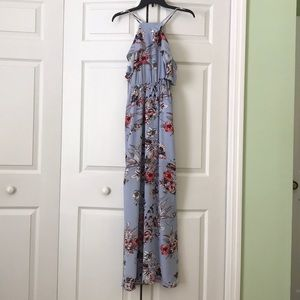 One Clothing blue floral maxi dress